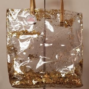 """NWT Packed Party """"Oh My Stars"""" Confetti Clear Tote"""
